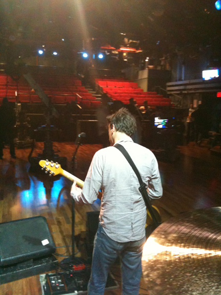 Mac during soundcheck for Jimmy Fallon